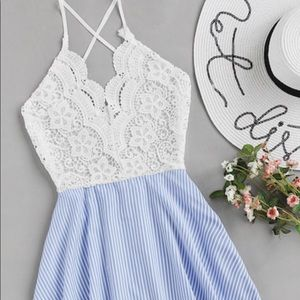 Dresses & Skirts - 🆕 white and blue backless dress